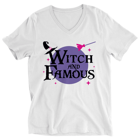 Witch and Famous White Halloween T-Shirt
