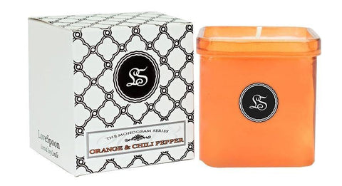 orange chili pepper scented soy candle