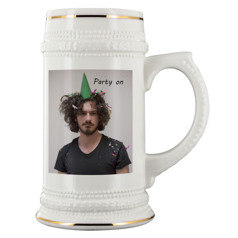Image of personalized photo beer stein mug