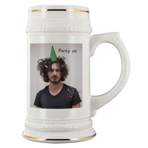 personalized photo beer stein mug