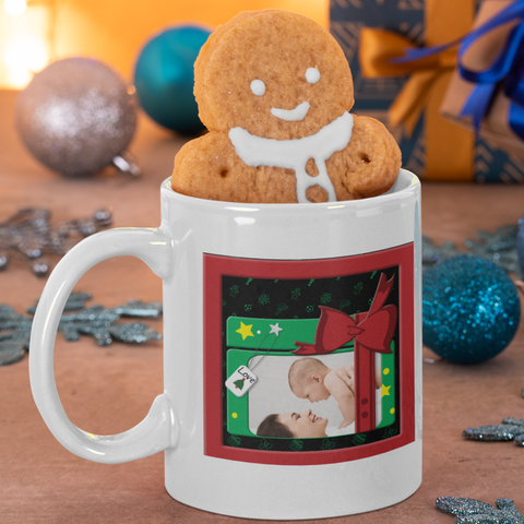 Image of personalized photo mug for christmas