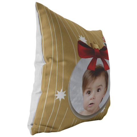 Image of Personalized Holiday Photo Pillow