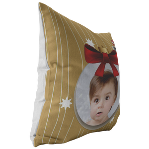 Personalized Holiday Photo Pillow