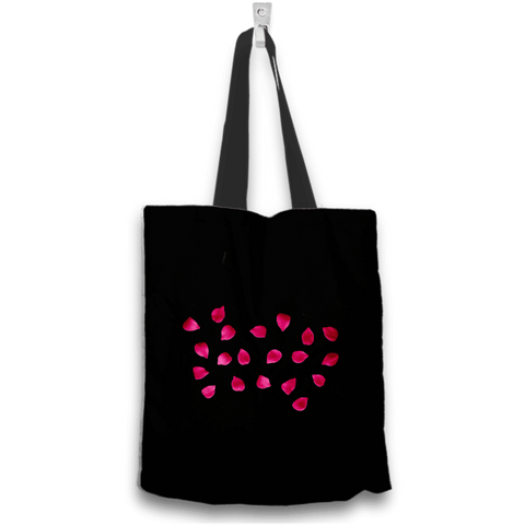 Hot Pink Rose Tote Bag Two Sides Two Designs