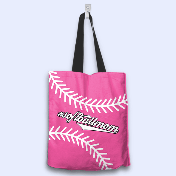 Softball Mom Pink Totebag