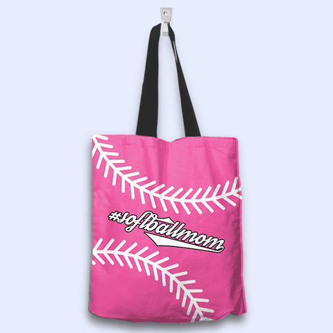 Softball Mom Pink Tote Bag