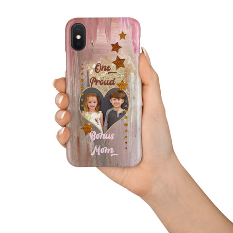 Image of proud bonus mom photo iphone case