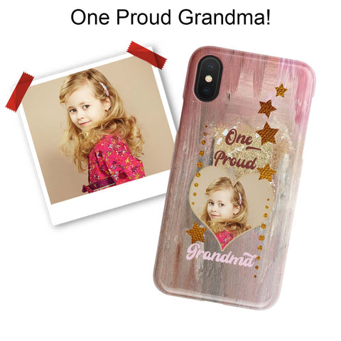 Image of proud grandma photo iphone case