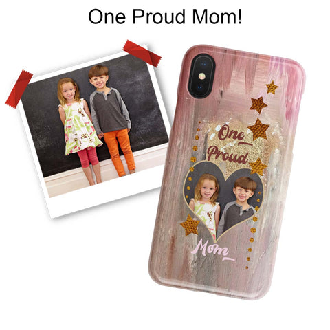 proud mom photo iphone case