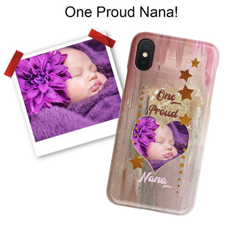 Personalized Proud Photo iPhone Case