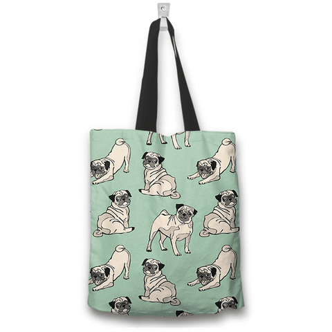Pug Dog Lovers Tote Bag