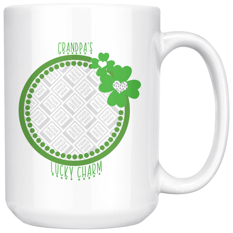Image of St Patricks Day Lucky Charm Personalized Photo Mug