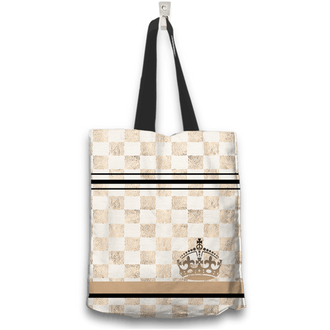 Image of queen tote bag back view