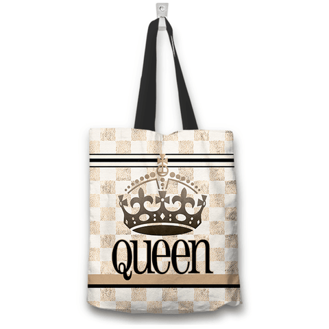 Image of queen totebag