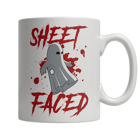 Sheet Faced White Halloween Mug