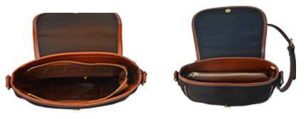 saddle bag purse interior view