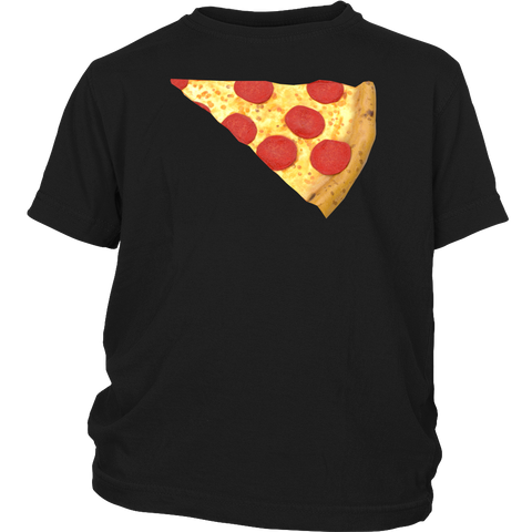 Image of pizza and slice kid t-shirts