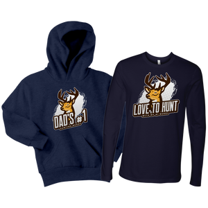 Father Child Hunting Buddies Matching Shirt and Hoodie