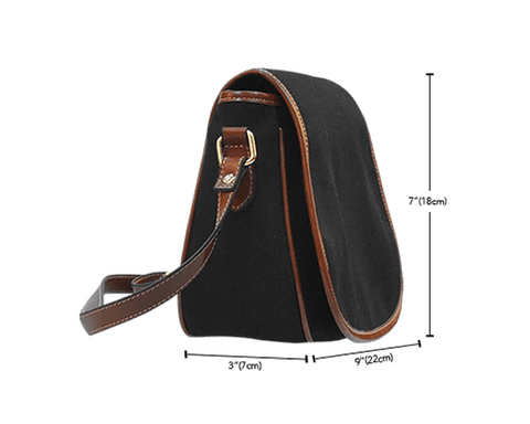 Image of basketball saddle bag purse size