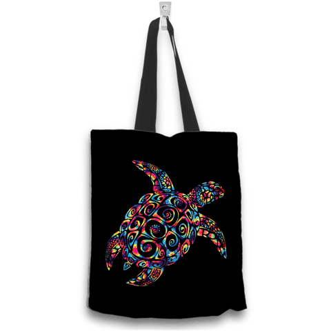 Image of Sea Turtle Kaleidoscope Design Tote Bag