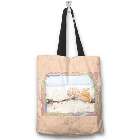 Seashells Beach Peach Tote Bag