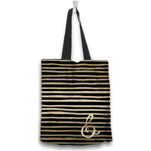 Rose Gold and Black Tote Bag Special 2-Sided Design
