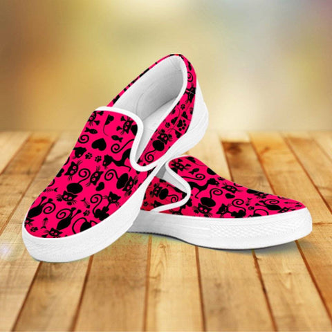 Image of Cats Pink Slip Ons