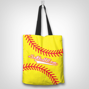 Softball Mom Yellow Tote Bag