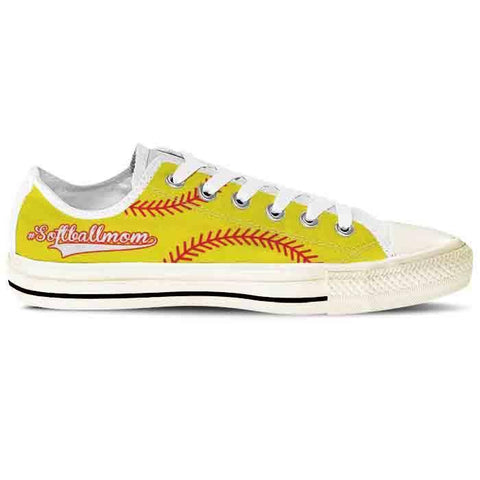 Image of yellow softball mom shoes