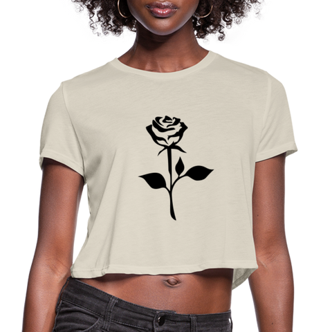 Image of Rose Women's Cropped T-Shirt - dust
