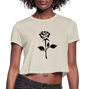 Rose Women's Cropped T-Shirt - dust