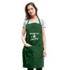 Santa Is Watching Holiday Apron - forest green
