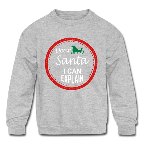 Image of Dear Santa Kids' Sweatshirt - heather gray