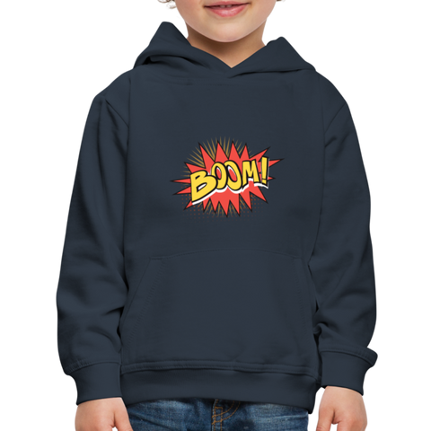 Image of Kid's Graphic Boom Hoodie - navy