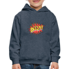 Kid's Graphic Boom Hoodie - heather denim