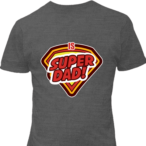 Image of Super Dad Charcoal T-Shirt