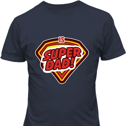 Image of Super Dad Navy T-Shirt