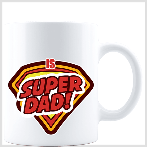 Super Dad White Mug
