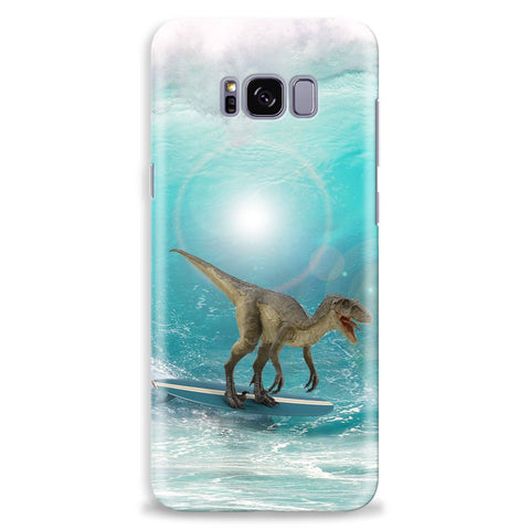 Image of dinosaur surfing phone case phone cover iphone samsung