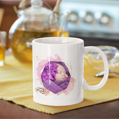Image of personalized color changing photo mug mom