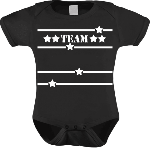 Image of Team Custom Family Shirts Add Your Family Name Free Baby One Piece