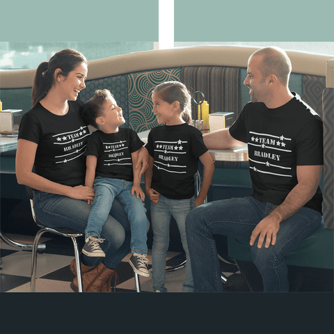 Image of Team Custom Family Shirts Add Your Family Name Free
