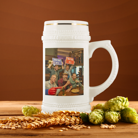 Image of personalized photo beer stein