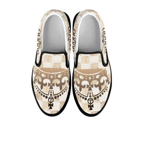 queen ladies slip on shoes