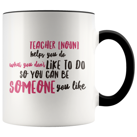 teacher appreciation custom mug black handle