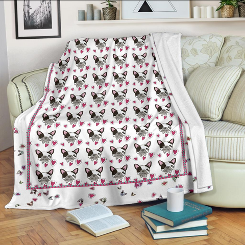 french bulldog black white design