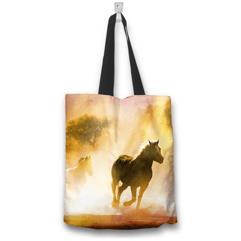 Image of Wild Horses Two-Sided Design Tote Bag