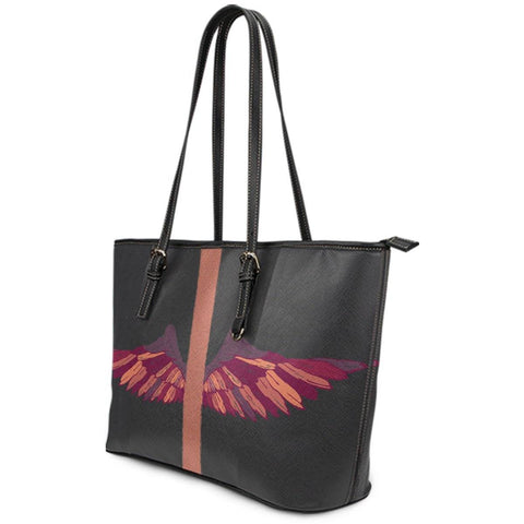 Image of Wings Artwork Vegan Leather Tote