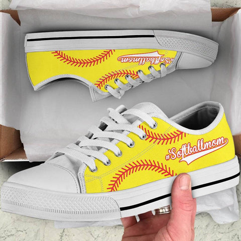 Softball Mom Yellow Low Top Shoes