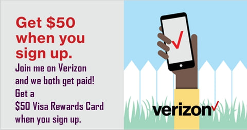 Join Verizon and Earn a $50 Rewards Card!